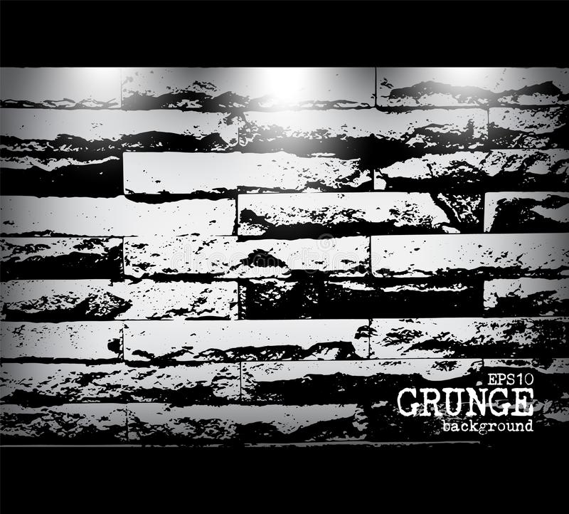 Grunge style of modern brick wall texture and light . Vector royalty free illustration