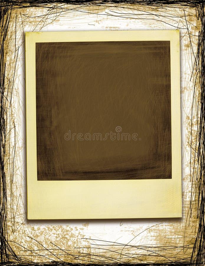 Grunge Style Polaroid stock illustration