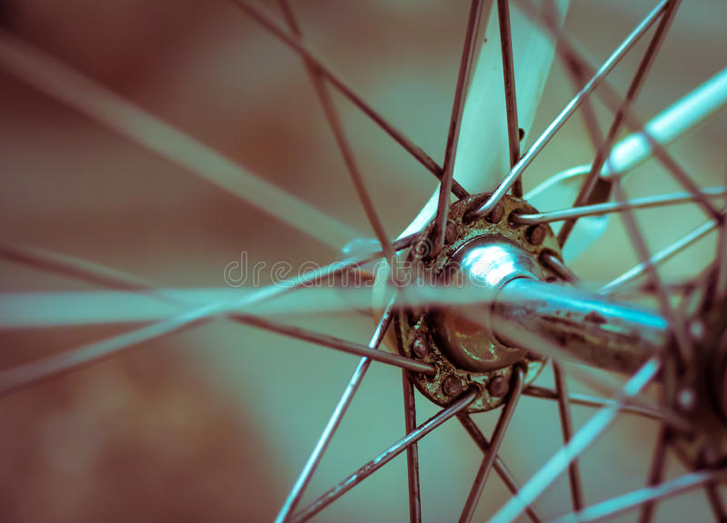 Grunge style retro artistic close-up on a bicycle royalty free stock photos