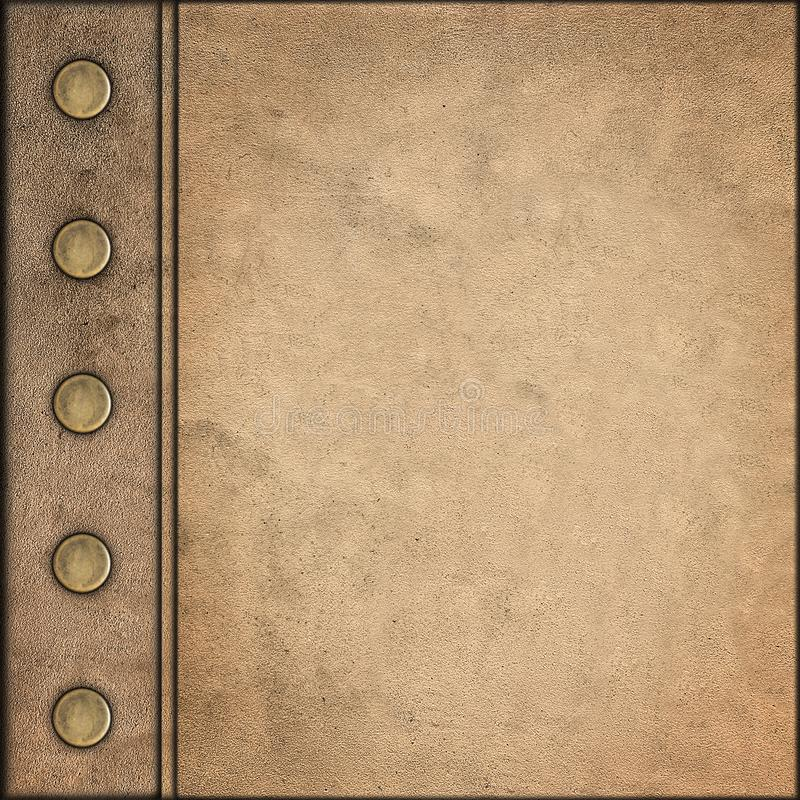 Grunge Style Vintage leather Album Cover royalty free stock photo