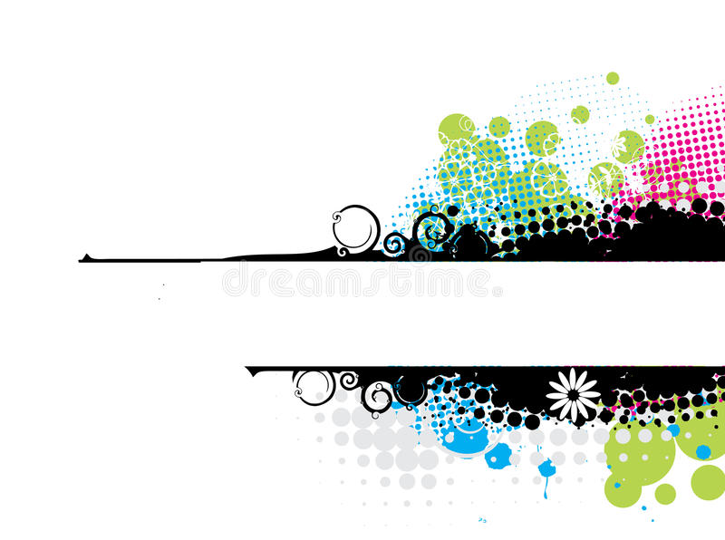Grunge stylish banners royalty free illustration