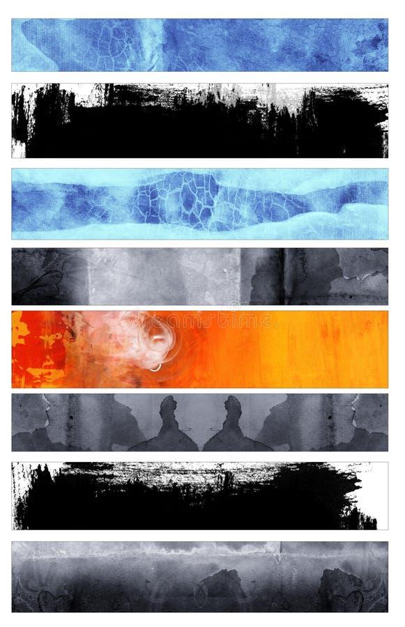 Grunge stylowi sztandary ilustracji