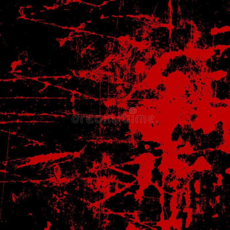 Grunge stylowy tło z krwionośnymi splats royalty ilustracja