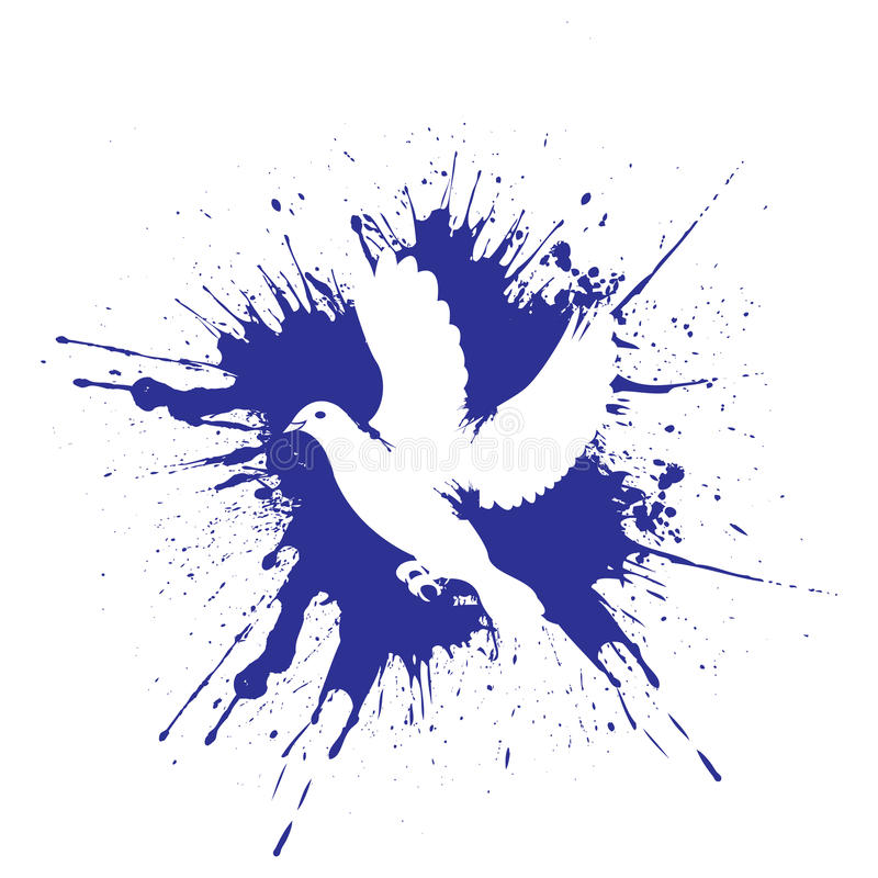 Grunge stylu gołąbka ilustracyjny wektor ilustracji