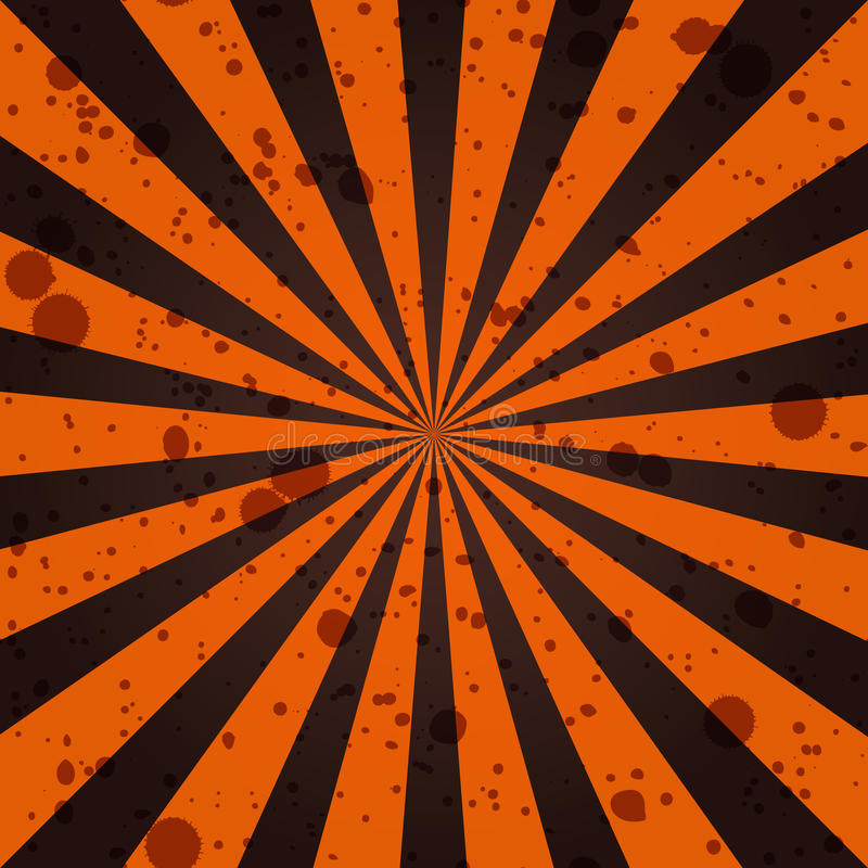 Grunge Sunbeam Background In Halloween Traditional Colors