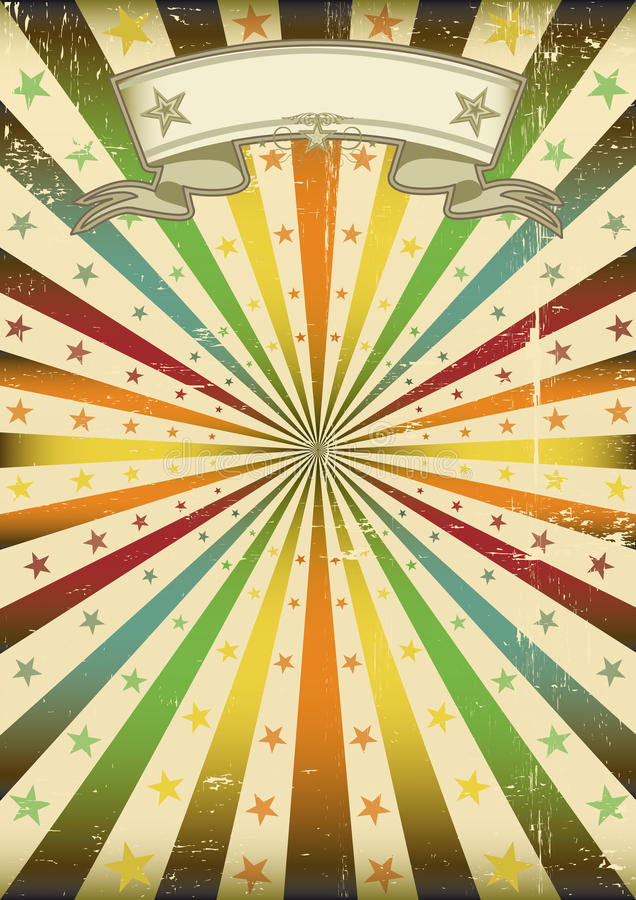 grunge sunbeans plakatowi royalty ilustracja