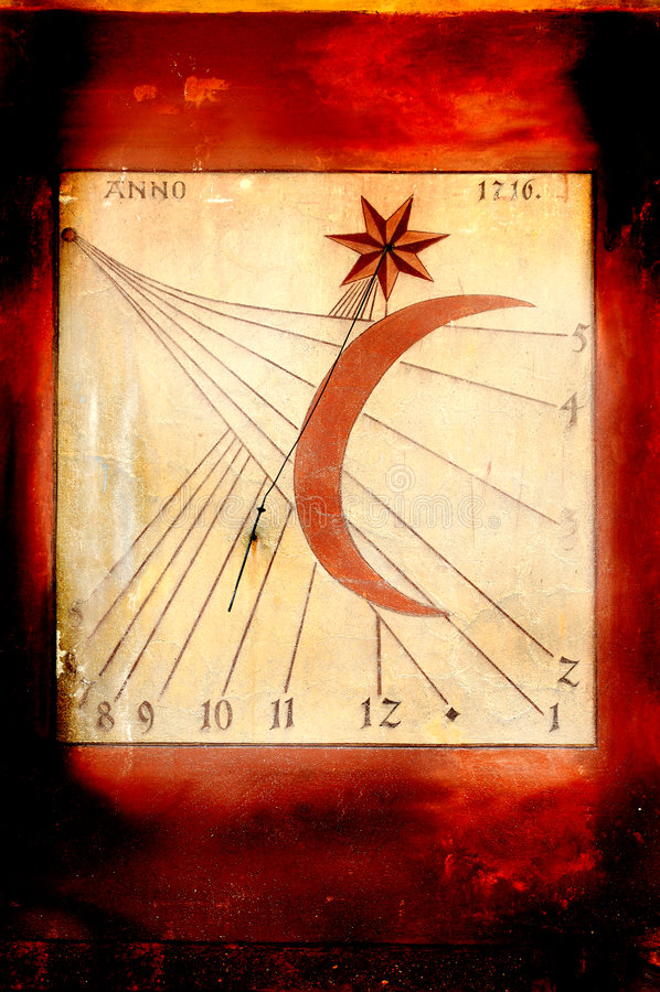 Grunge sundial royalty free stock photos