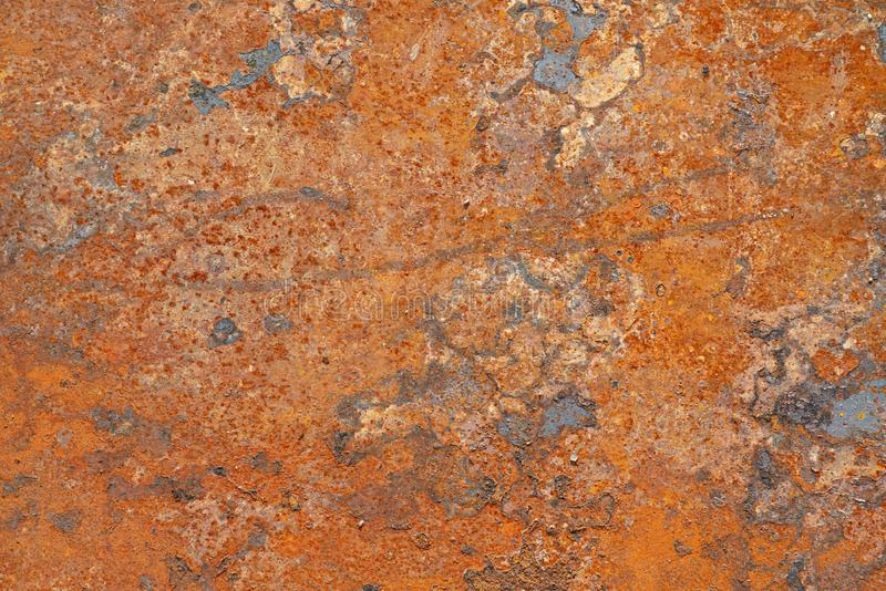 Grunge surface of a rusted sheet of metal, background, texture.  royalty free stock photos