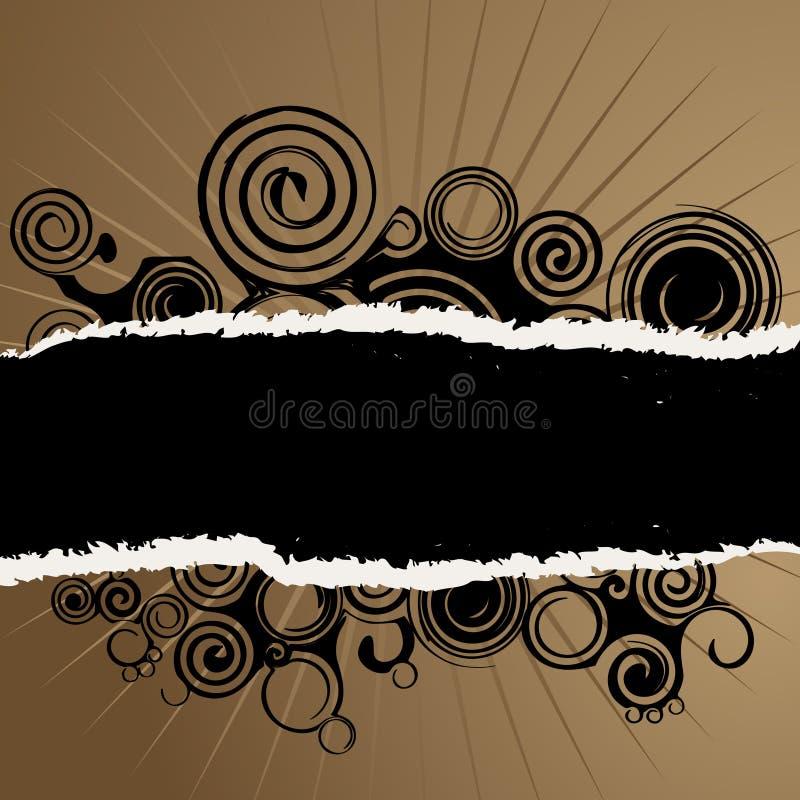 grunge swirl torn paper background stock illustration