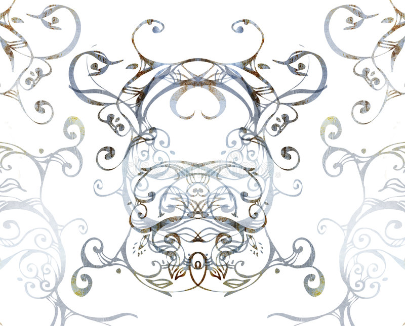 Grunge swirls royalty free illustration