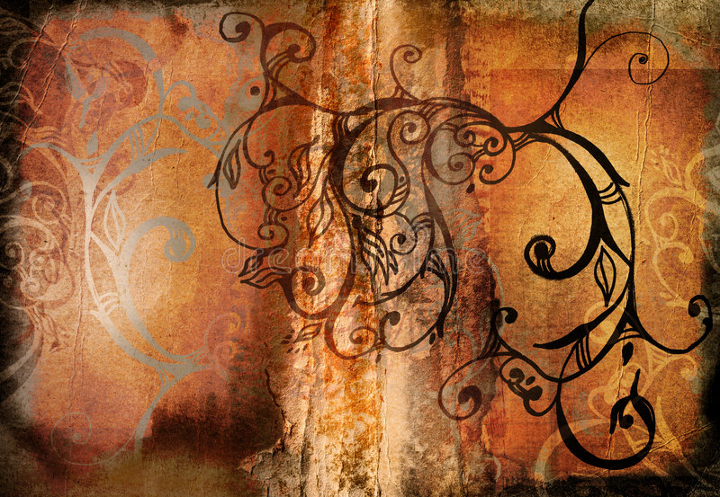 Grunge swirls book spread vector illustration