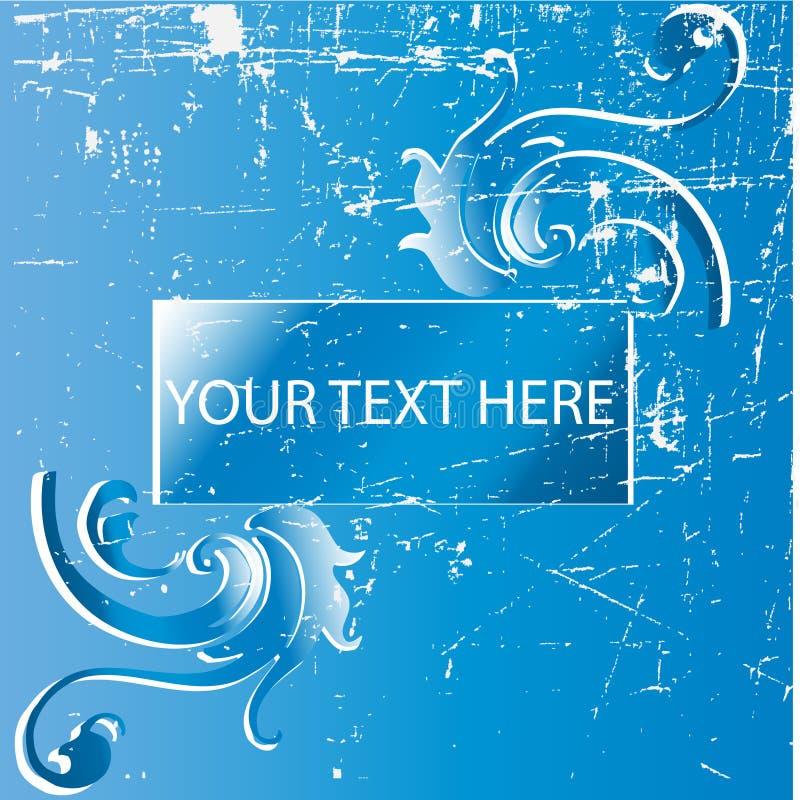 Grunge swirls vector background with banner. An illustration premium grunge swirls vector background with banner royalty free illustration