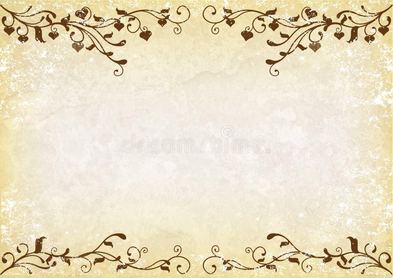 Grunge swirly Hintergrund stock abbildung