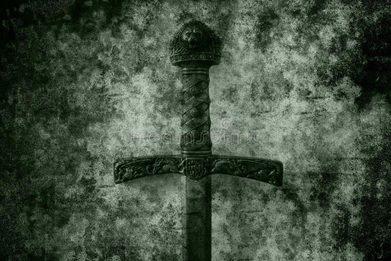 Grunge sword background royalty free stock photo