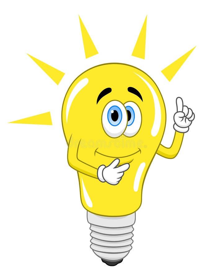 Grunge Symbol der Glühlampe auf alter Papierbeschaffenheit lizenzfreie abbildung