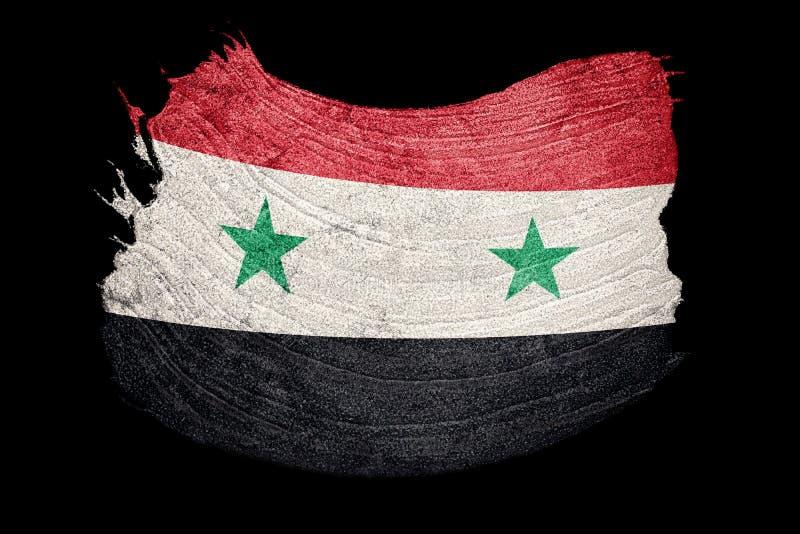 grunge Syrie d'indicateur Drapeau syrien avec la texture grunge Rappe de balai illustration de vecteur