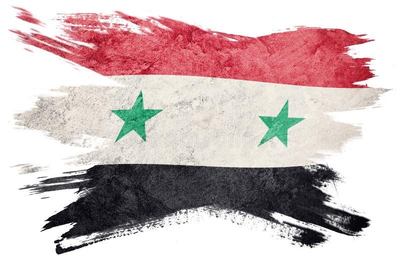 grunge Syrie d'indicateur Drapeau syrien avec la texture grunge Rappe de balai illustration libre de droits