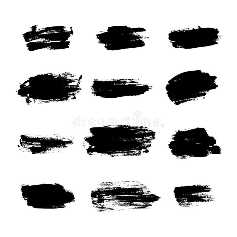 Grunge szczotkuje tło tekstury set ilustracja wektor