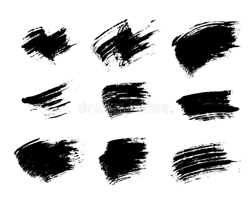 Grunge szczotkuje tekstura set ilustracji