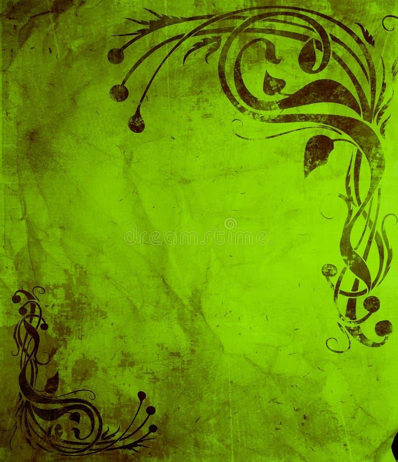 grunge sztuki nouveau stylu wallp royalty ilustracja