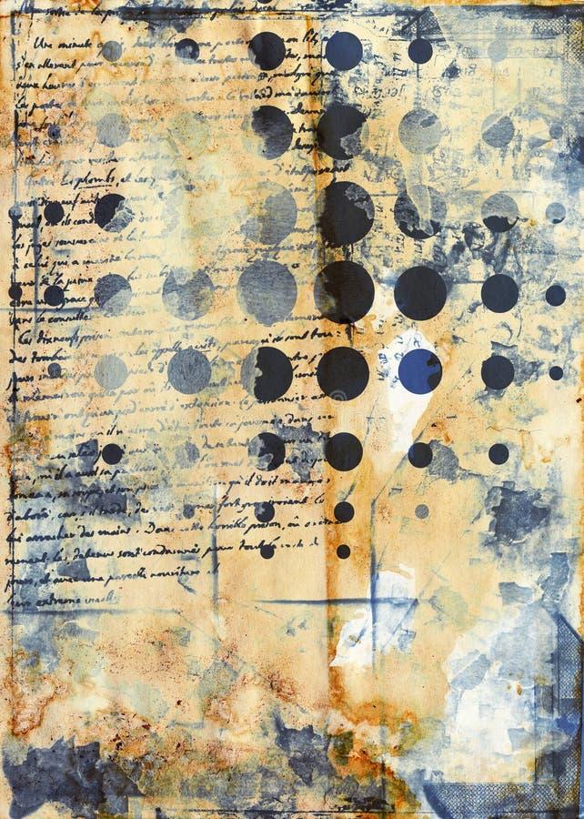 Grunge sztuki styl textured abstrakcjonistyczny tło royalty ilustracja