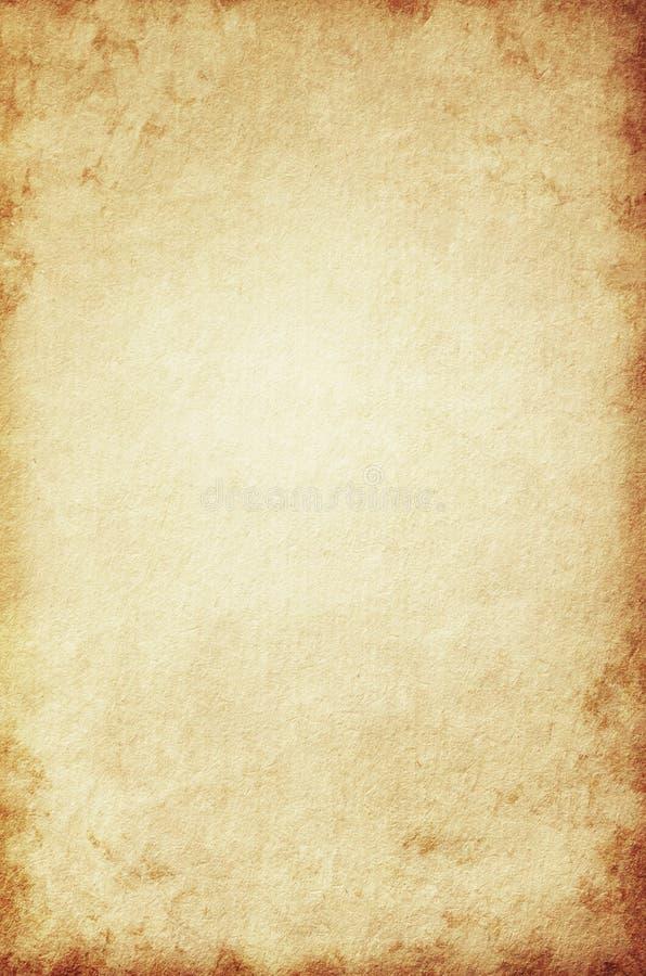 Grunge tło, beż papierowa tekstura, papier, stary, rocznik żółty, retro, szorstki, brązowić, plamy royalty ilustracja