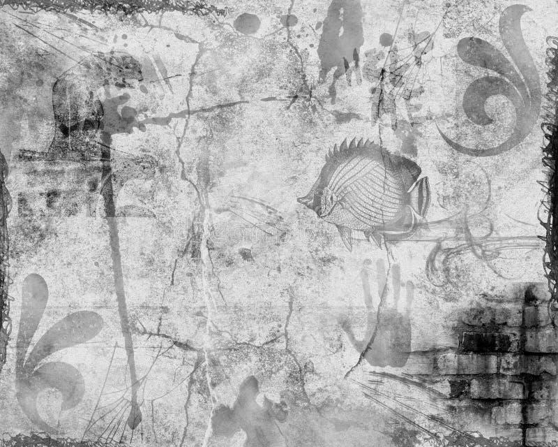 grunge tła abstrakcyjne royalty ilustracja