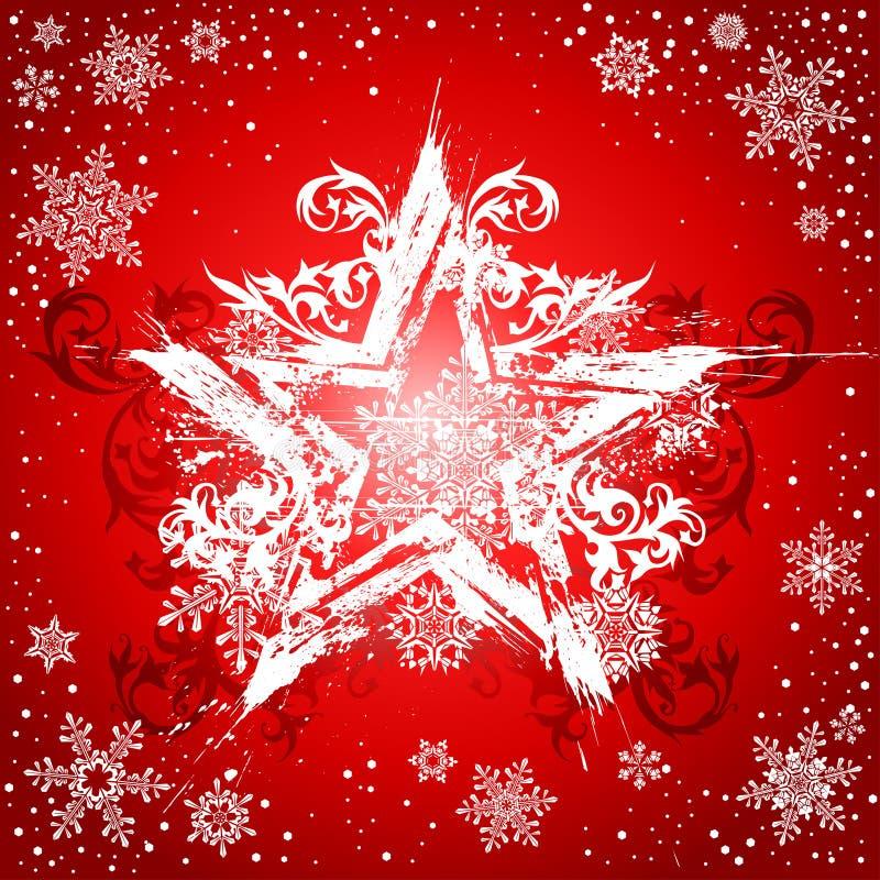 grunge tła białych gwiazd ilustracji