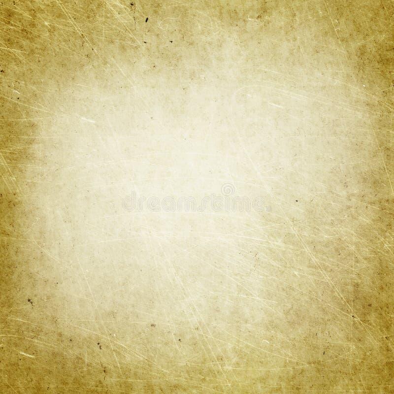 Grunge tła brązu stara papierowa tekstura, puste miejsce, brudny, odkurza, drapa, plami, rocznik, retro, projekt, papier, strona, ilustracja wektor