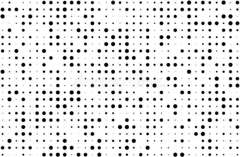 grunge tła kolory w półtonach ilustracji wektora Cyfrowego gradient Kropkowany wzór z okręgami, kropki, wskazuje małą i wielką sk ilustracja wektor