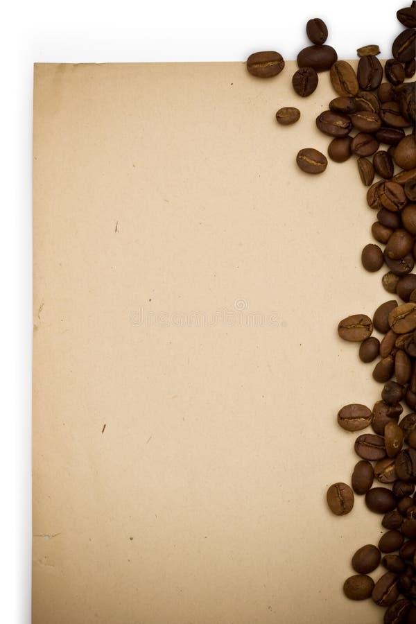 grunge tła księgi kawy obraz royalty free