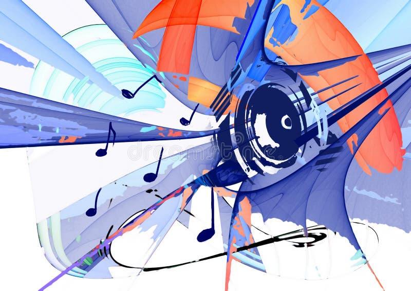 grunge tła muzyki ilustracji
