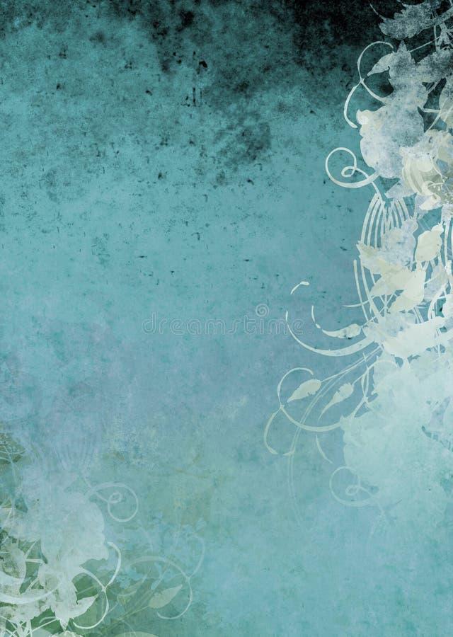 grunge tła niebieskozielony royalty ilustracja