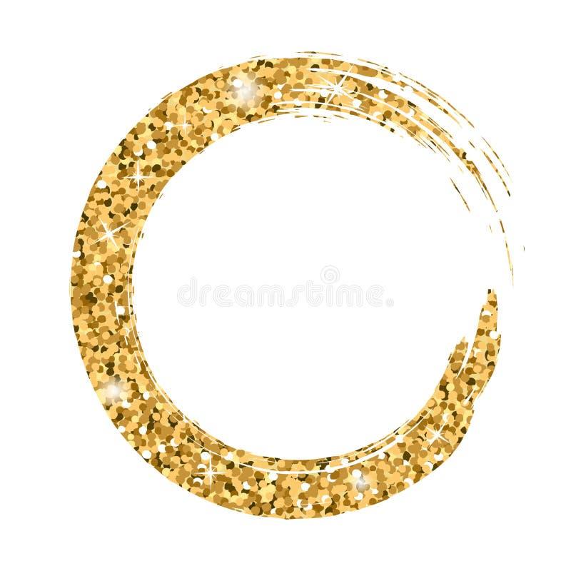 Grunge tła okręgu złoto obrazy royalty free