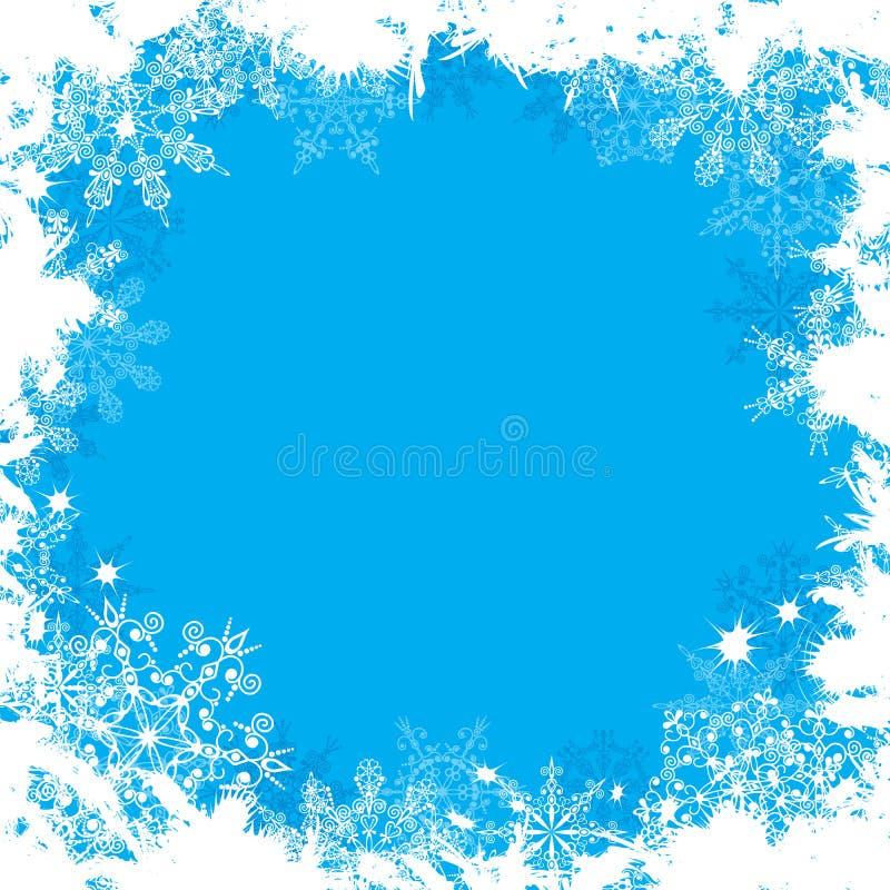 grunge tła płatki śniegu położenie ilustracja wektor
