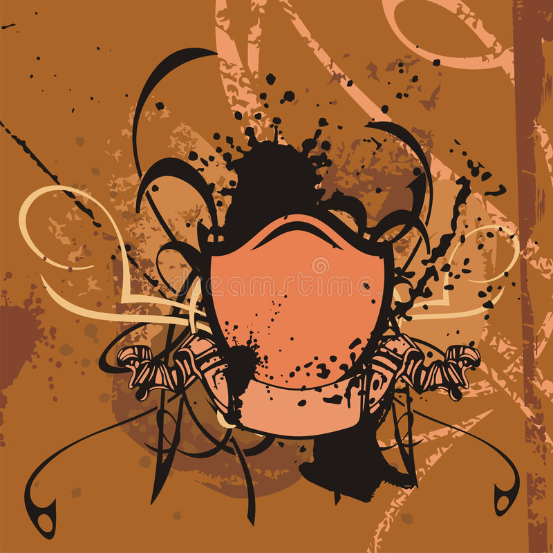 grunge tła shield ilustracji