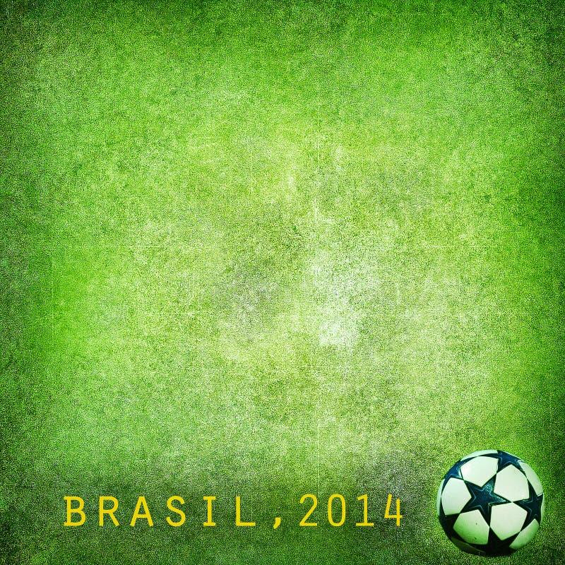 Grunge tło - Brazylia 2014. Przestrzeń dla teksta royalty ilustracja