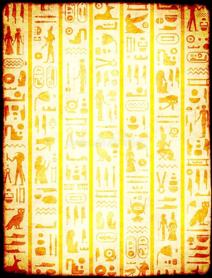 Grunge tło z antycznymi egipskimi hieroglifami zdjęcia stock