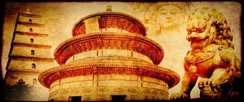 Grunge tło z papierową teksturą i punktami zwrotnymi Chiny obraz stock