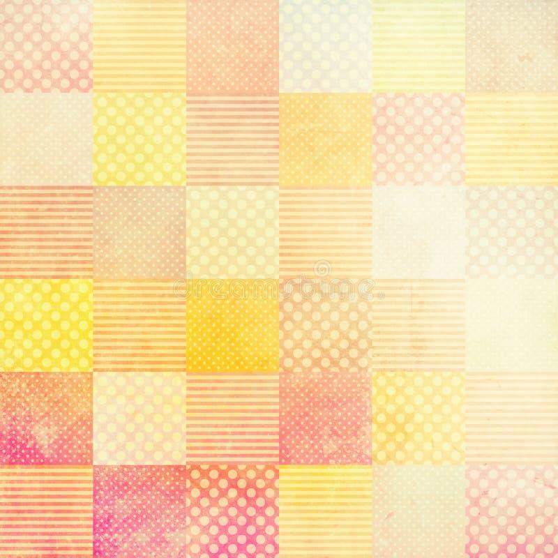 Grunge tło z patchworku wzorem ilustracji