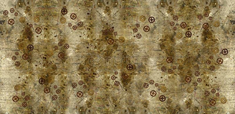 Grunge tło z Steampunk przekładniami obraz royalty free