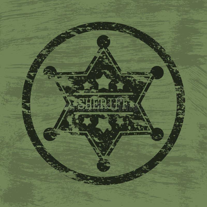 Szeryf odznaka ilustracja wektor