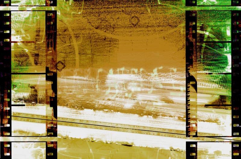 grunge taśmy filmowe abstrakcyjne ilustracji