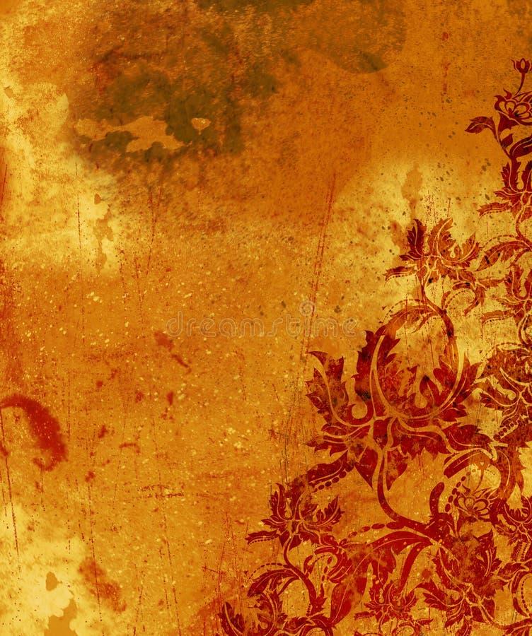 grunge tapetowy spalona royalty ilustracja