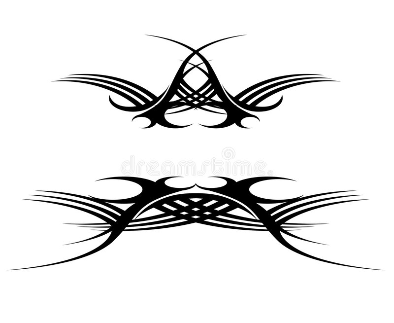 Download Grunge tattoo stock vector. Illustration of decor, curve - 4858013