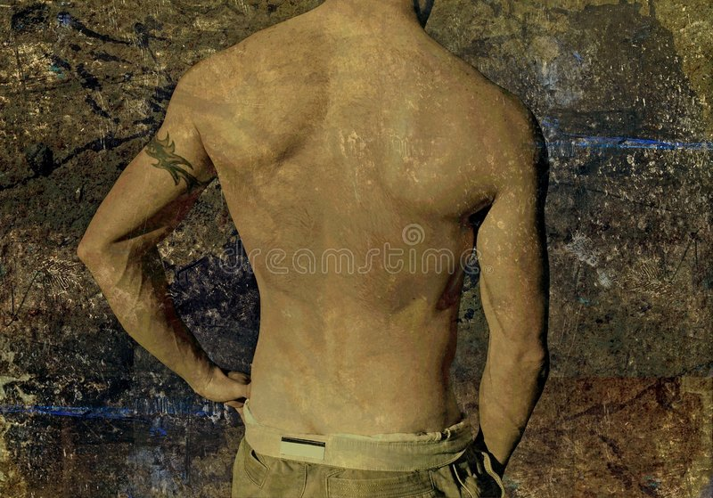 Download Grunge Tattoo Guy stock image. Image of city, dark, decay - 8572471