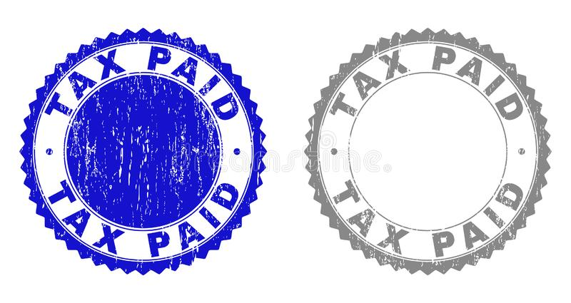 Grunge TAX PAID Scratched Stamp Seals royalty free illustration