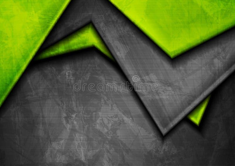 Grunge techniki materiału zieleń i zmroku popielaty tło ilustracja wektor