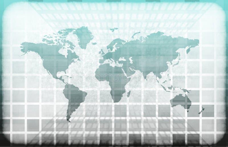 grunge technologie informacyjne świat royalty ilustracja