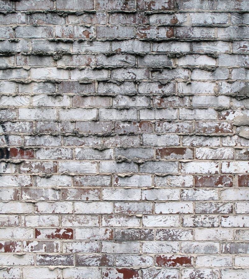 Grunge tegelstenvägg royaltyfria bilder